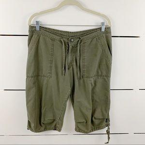 PRANA Bermuda Hiking Shorts Green Size Medium